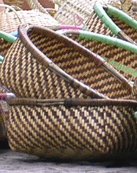 Woven baskets on Santiago Cape Verde Islands