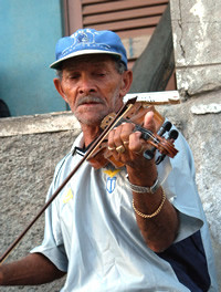 Violinist in Cape Verde Islands